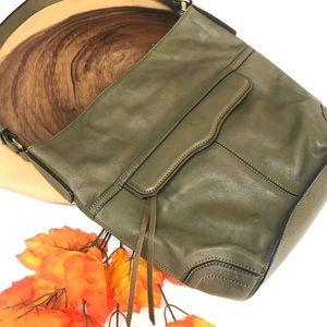 Rebecca Minkoff Olive Camo Green Bucket Bag